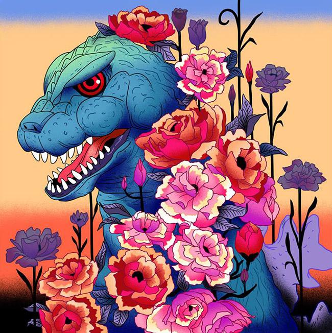 Julia Sonmi Heglund (US) - Godzilla art
