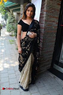 Actress Neetu Chandra Stills in Black Saree at Designer Sandhya Singh's Store Launch  0021.jpg