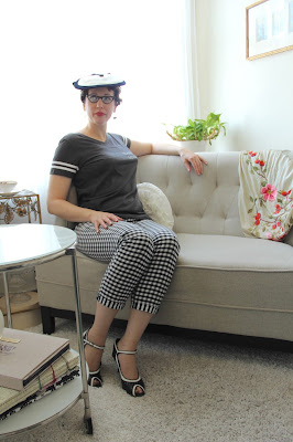 Gingham is Vintage (pictures in my office)