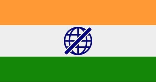 Shutting down the internet costs India $ 2.7 billion