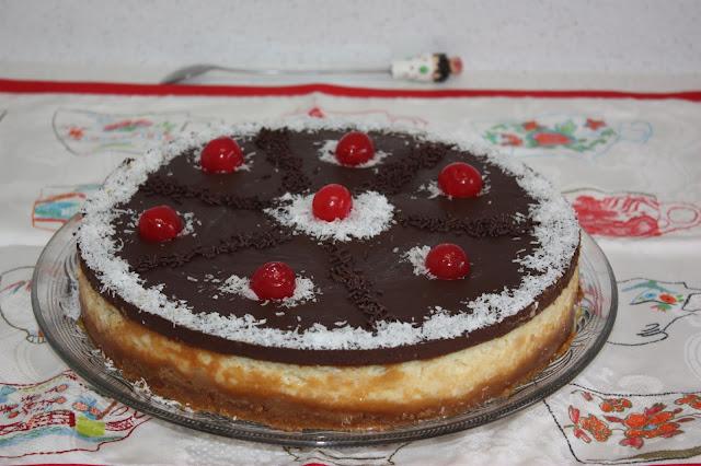 tarta de pudin de coco y chocolate