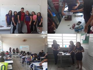 Estudantes do curso de eletrônica do IFPB/Picuí divulgam curso para estudantes do ensino médio