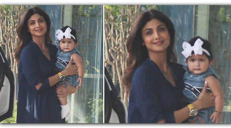 शिल्पा शेट्टी के हाथों में नजर आई समिषा, मां-बेटी का अंदाज देखने लायक है
