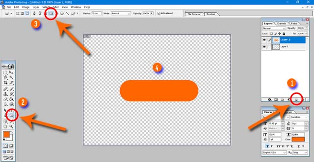 How to Create Transparent Download Button in Photoshop