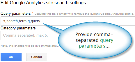 Query parameters for Google custom search engine.