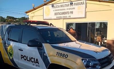 Manoel Ribas: PM recupera objetos furtados e prende três suspeitos