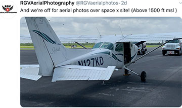Taking to the skies to peer over the fence at the Boca Chica launch site (Source: @RGVarielphotos)