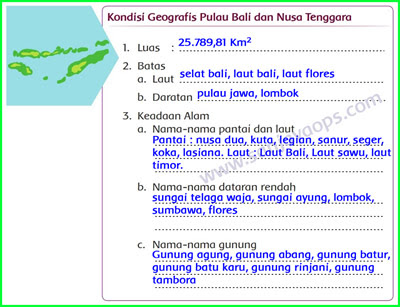 Kondisi-Geografis-Pulau-bali-dan-nusa-tenggara-Berdasarkan-Peta