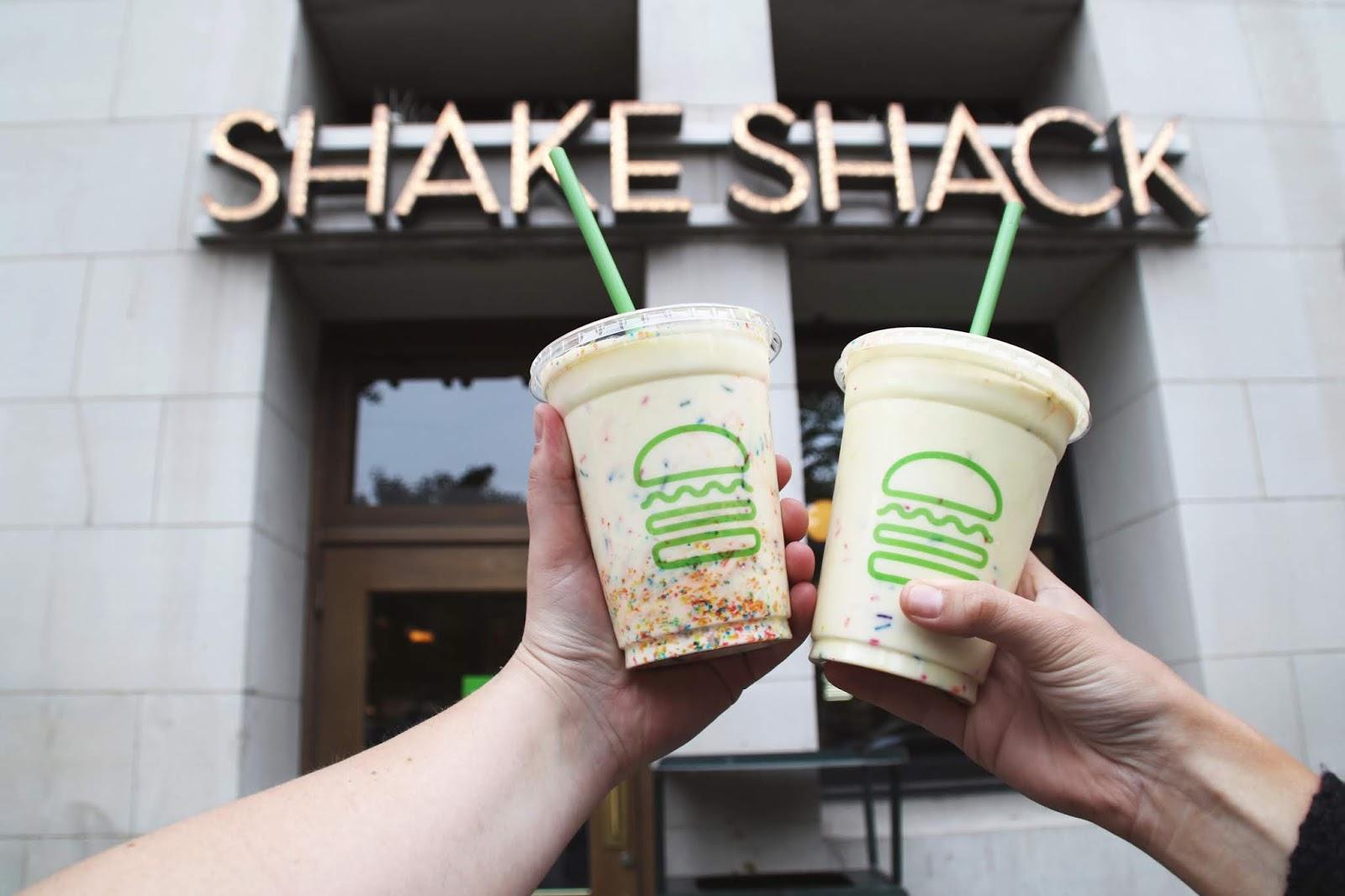 Shake Shack Chicago, pride month shake, shake shack shakes
