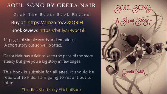Book: Soul Song by Geeta Nair