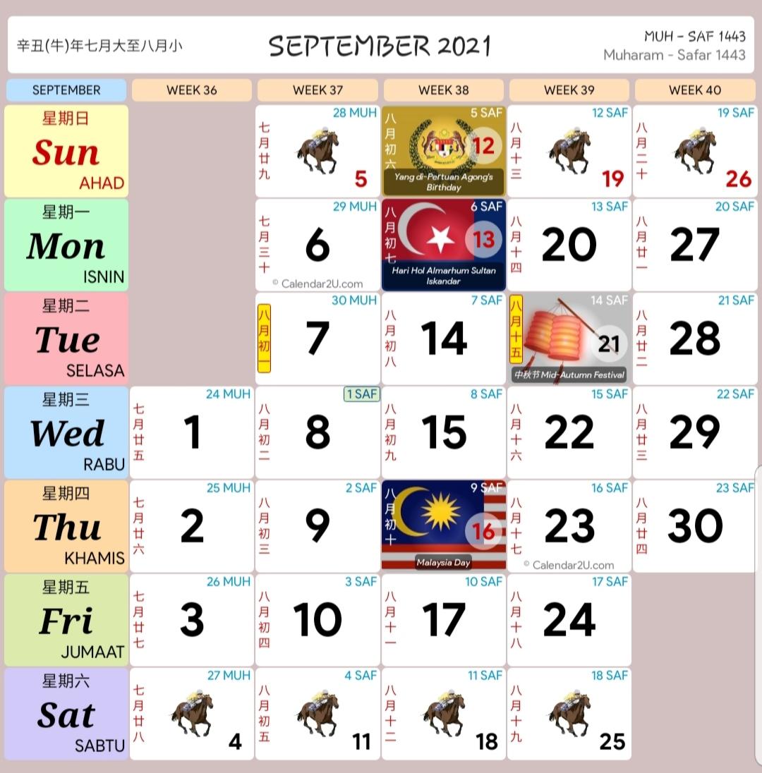 Kalendar Kuda Malaysia Tahun 2021 Kalendar Kuda Malaysia
