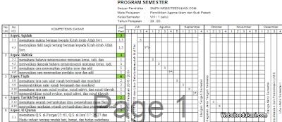 Promes PAI dan BP Kelas 8 Kurikulum 2013 Revisi 2019