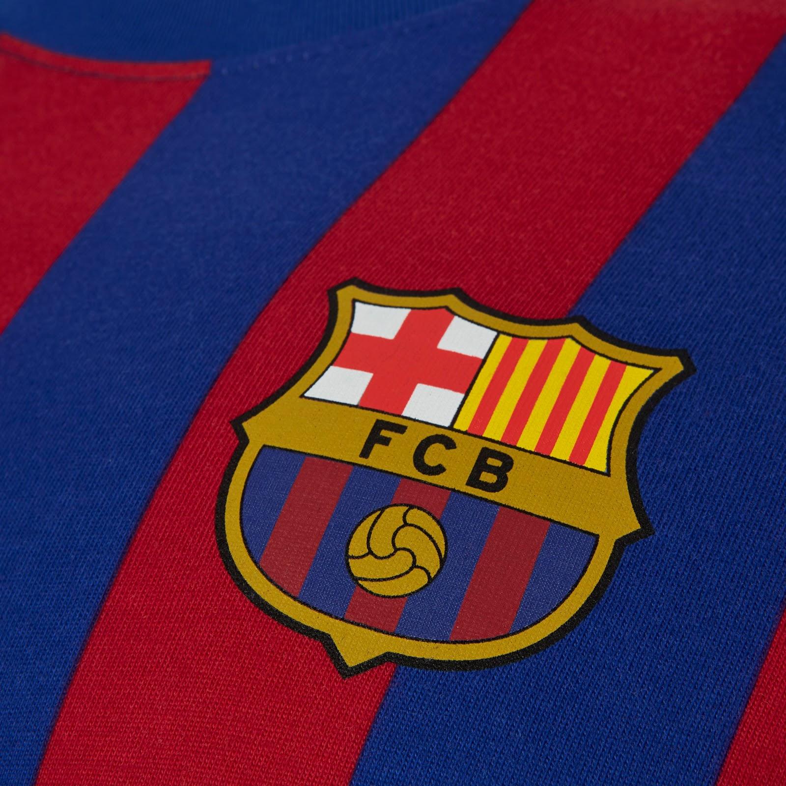f0dd2fa6567ccd Classy Nike FC Barcelona 2019 LS Retro Shirt Released - Footy Headlines