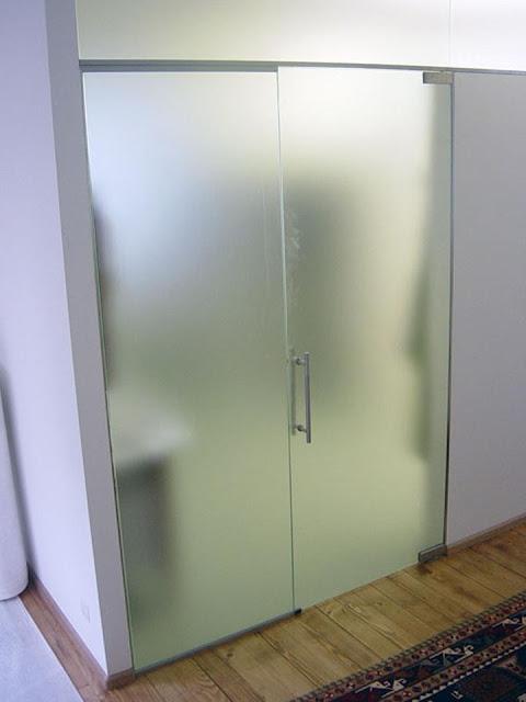 The original interior wall of glass