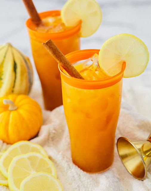 pumpkin fizz cocktail