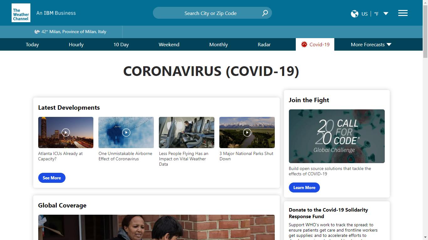Coronavirus, la dashboard interattiva di IBM per tracciare la pandemia