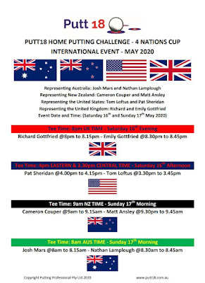 Information about the Putt18 Home Putting Challenge 4 Nations Cup international event
