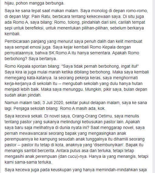 Felix K. Nesi Pemenang Sayembara Novel DKJ 2018 Dipolisikan