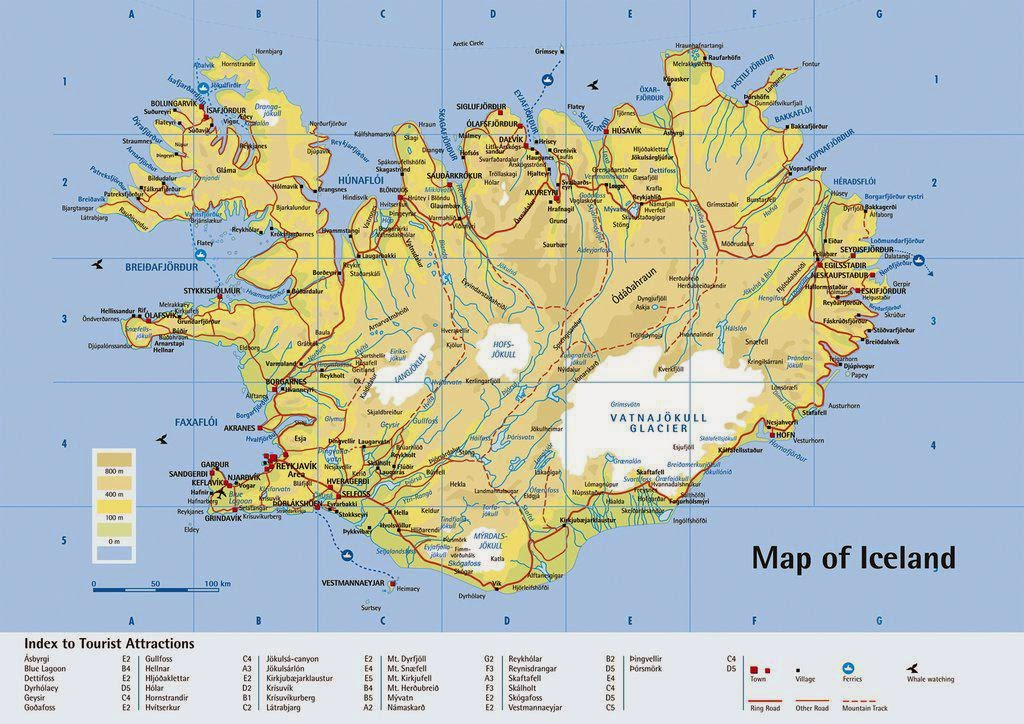 Map of Iceland 10 Most Beautiful Island Countries in the World
