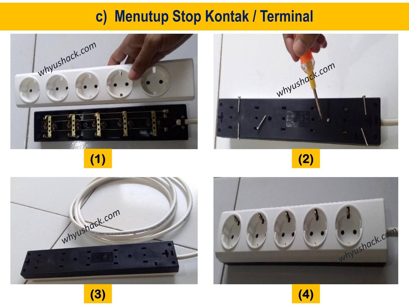 Cara Mudah Merakit Stop Kontak Terminal 3