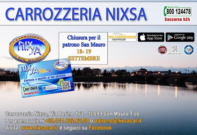 Chiusura straordinaria Nixsa 18-19 Settembre