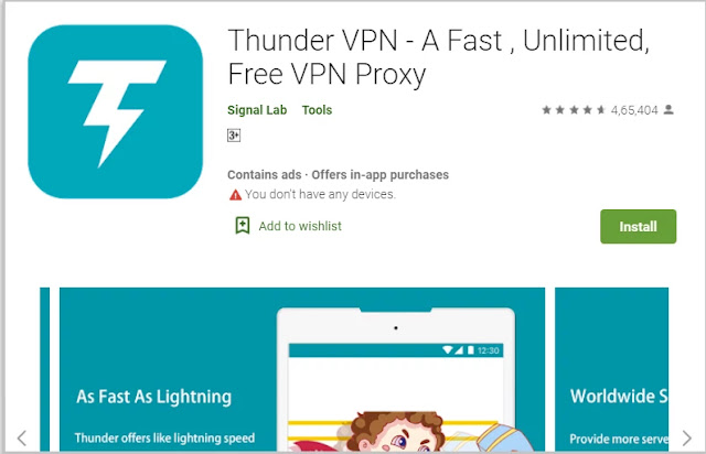 Thunder VPN for windows pc