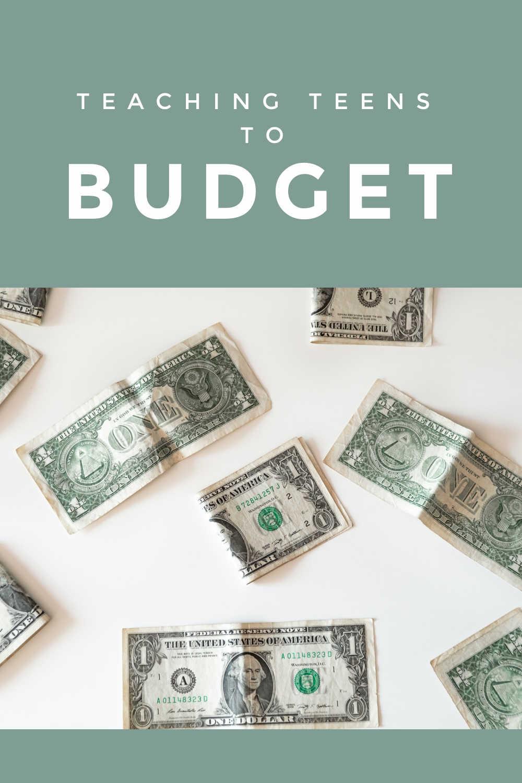 teaching teens to budget