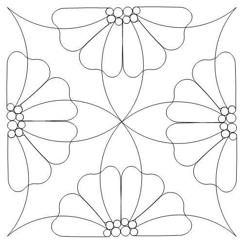 Tranh tô màu trang trí hình vuông họa tiết đơn giản dễ tô lớp 6