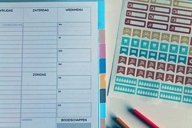 weekmenu boodschappen agenda