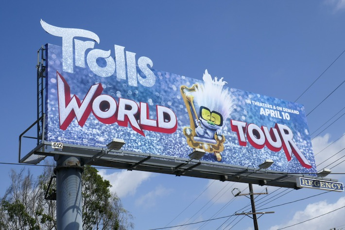 Trolls World Tour Tiny Diamond extension billboard