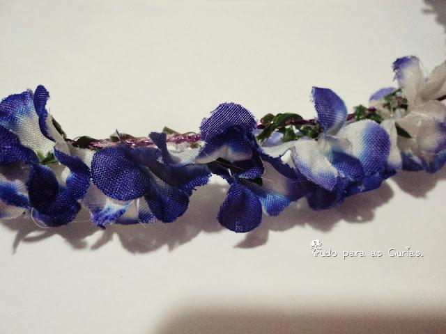 Tiara de flores com passo a passo