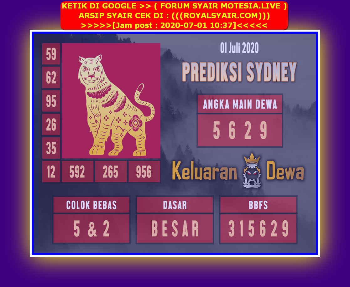 Kode syair Sydney Rabu 1 Juli 2020 60