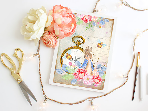 """Free Peter Rabbit Easter 5"""" x 7"""" Card"""
