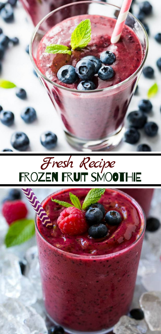 Frozen Fruit Smoothie  #healthydrink #easyrecipe #cocktail #smoothie
