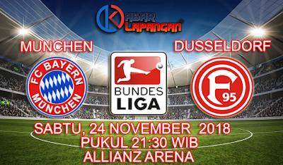 Prediksi Bola Bayern Munchen vs Fortuna Dusseldorf 24 November 2018