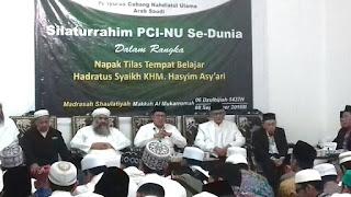 Silaturrahim PCNU se-Dunia di Madrasah Shaulatiyah Arab Saudi