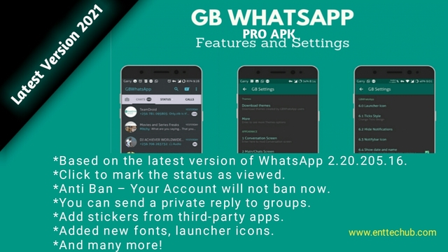 Download Gbwhatsapp Pro Apk Latest Version 2021 V13 50 Official Anti Ban
