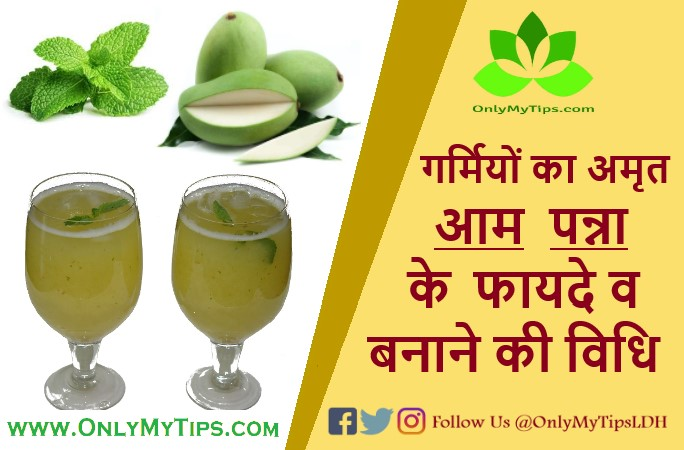 Raw Mango Water's Benefits in Summer, आम पन्ना - केरी पानी के फायदे, नुकसान व बनाने की विधि | Mango Panna - Kerry Water's Benefits, Disadvantage and Recipe