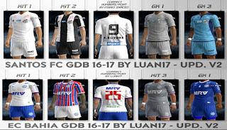 Kits: Ec Bahia, Santos, 2016-17 Pes 2013