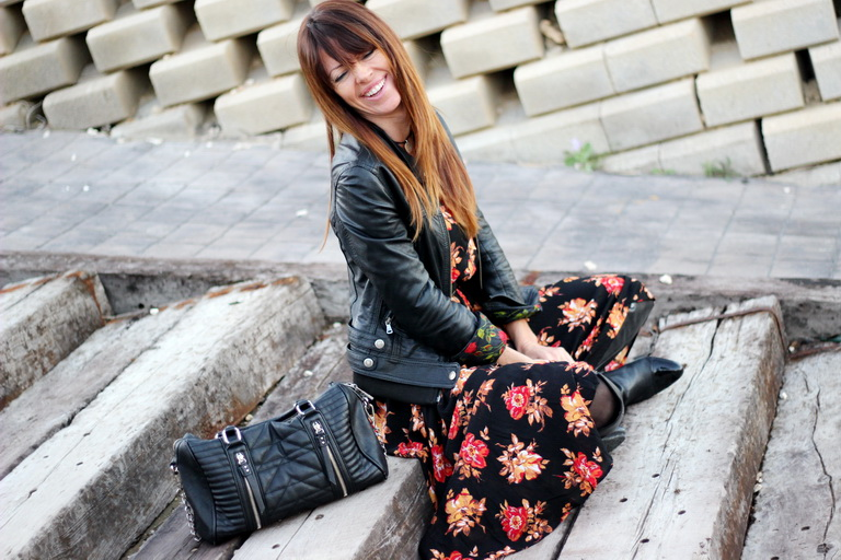 Flowers , Tendencias Otoño 2015, Fashion blogger, streetstyle, sheinside dress, smile, smiling