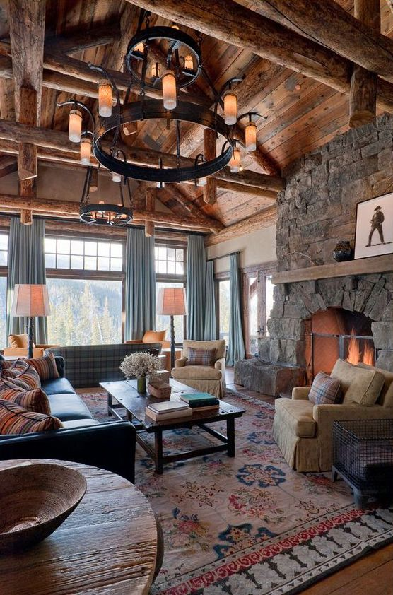 Great Room Designs: Dragonfly Designs: Contemporary Rustic--That's What I Call