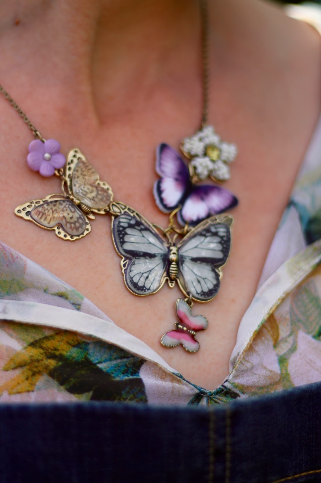 Fke Fabulous | Butterfly necklace.