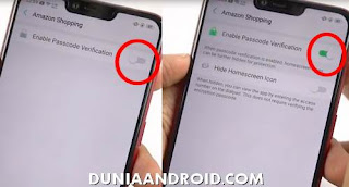 Kunci aplikasi Realme android