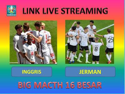 Link Live Streaming Euro 2020 ENGLAND VS GERMANY Berlangsung Di Stadion Wembley