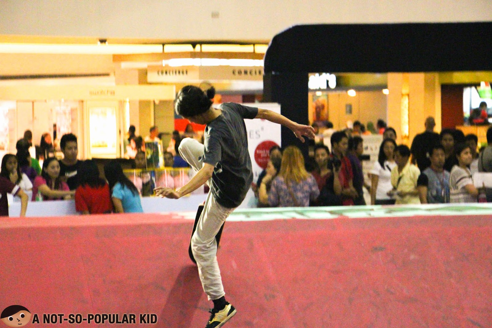 Skateboard Stunts in Trinoma Activity Center