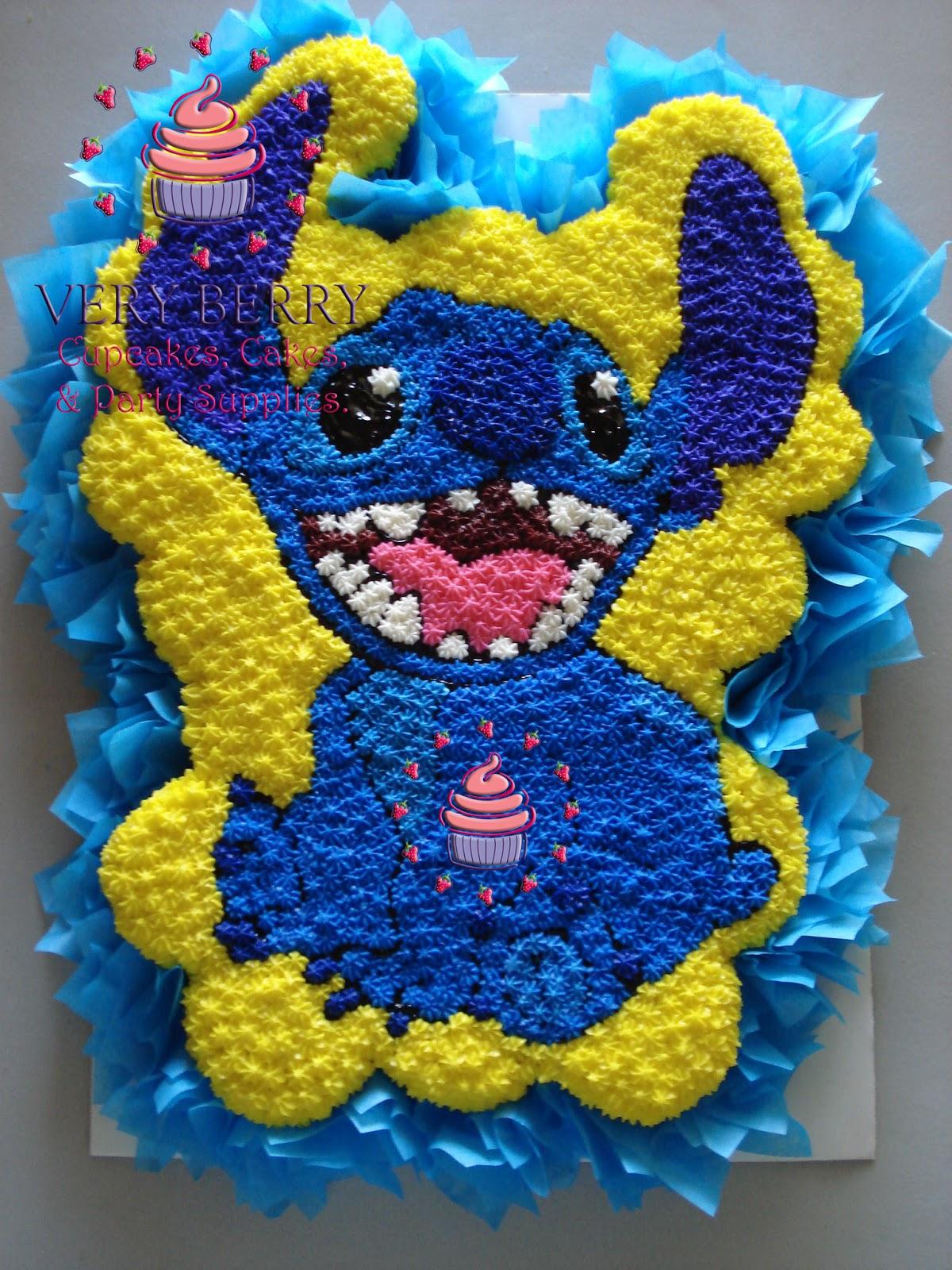 Veryberry Cupcakes Stitch Cupcake Cake
