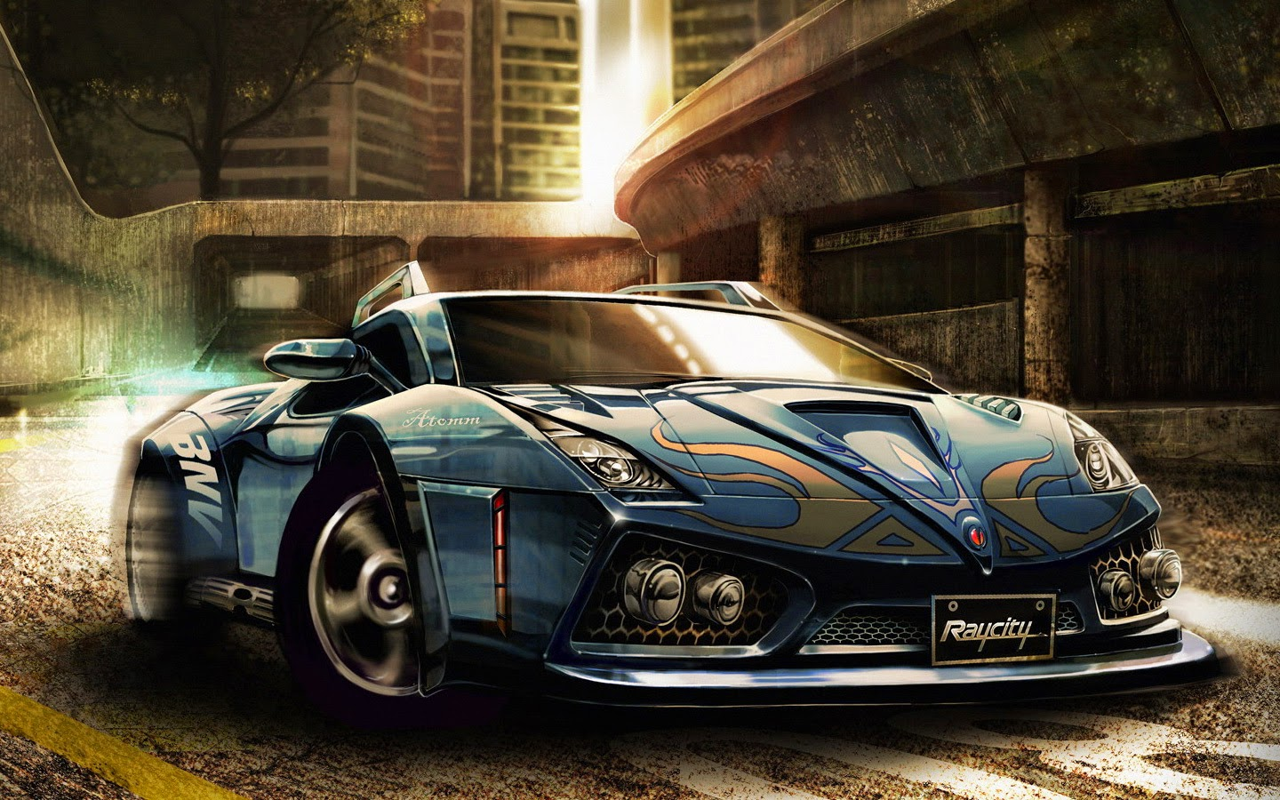 2015 Blue Ford Mustang Shelby Gt500 Muscle Car Wallpaper