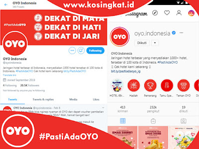 Sosial Media OYO Hotels