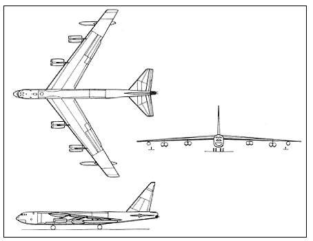 Boeing B-52 Stratofortress taslak...