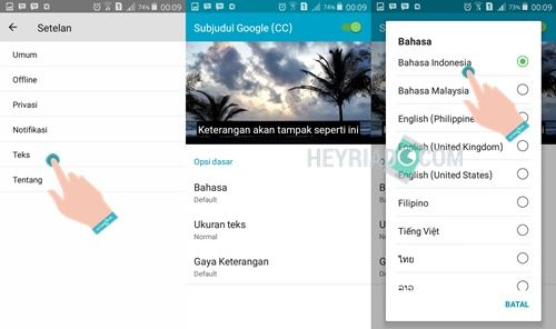 Cara Menampilkan Subtitle atau Terjemahan Indonesia di Video YouTube Android 2 Cara Menampilkan Subtitle/Terjemahan Indonesia di YouTube Android